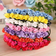 Flower Crown Festival Headband Wedding Garland Floral Hairband Accessories EC