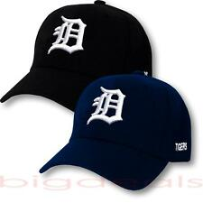 Detroit Tigers Cap Velcro MLB Logo Hat Embroidered On Field Game Basic Home Away