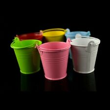 10 Pcs Metal Mini Buckets Candy Favours Pail Bucket Wedding Party Gifts 9 Colors