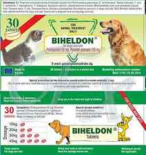 Biheldon tabs Dog Puppy Cat Wormer 100% effective FREE SHIPPING* English leaflet