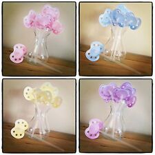 8 DUMMY DRINKING STRAWS Soother Pacifier Baby Shower Gender Reveal Hen Party