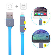 2 In 1 Retractable Dual USB Charger Cable FOR Samsung S3 S4 iPhone 6/6+/5s/5C