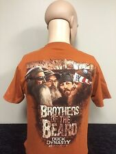 Duck Dynasty Brothers of the Beard Unisex Fit Adult T-shirt Burnt Orange
