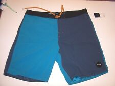 NEW RVCA solid turquoise navy blue swim trunks board shorts 28 30 31 33 34 36 38