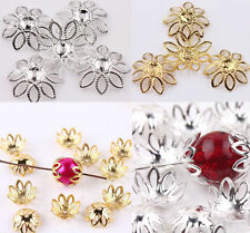 Wholesale 50Pcs Gold/Silver Plated Filigree Flower Cone Charm End Bead Caps 20MM