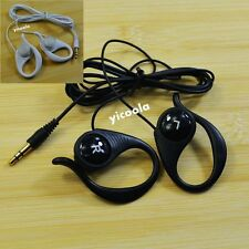 Stereo 3.5mm Soft Hook Over Ear Clip Sports Gym Jogging Earphone Headset Earbud