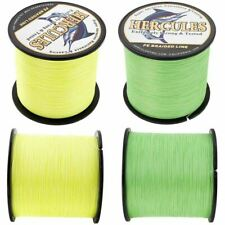 Fluorescent Yellow/Green Spectra PE Braid Fishing Line Dyneema 100/300/500/1000M