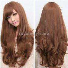 Women's Full Wigs Long Curly Wavy Wig Dark Brown / Light Brown Fashion Hairstyle