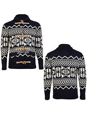 Mens Tokyo Laundry Corporation Shawl Neck Fair Isle Knitted Cardigan Size S-XL