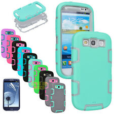 PC SHOCKPROOF COMBO DEFENDER HARD CASE COVER FOR SAMSUNG GALAXY S3 S III I9300