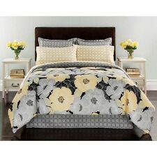 Complete Bed Set Carly Bedding Pillowcases Sheets Comforter Flowers Yellow Room