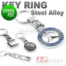 CHROME STEEL ALLOY KEY RING FOB KEYCHAIN for MERCEDES BENZ AMG A C E ML G CLASS