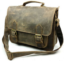 Retro Men's Genuine Cow Leather Handbag Briefcase Attache Messenger Shoulder bag