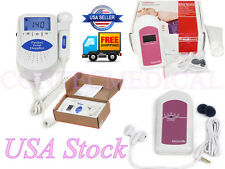 USA STOCK hot Prenatal baby Sound Heart rate Monitor Fetal doppler FDA CE,+Gel