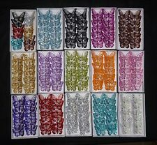 12x 8cm Decorative Glitter Jewelled Clip-on Butterfly Butterflies Large Wedding