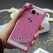 3D Cute Bow Bling Diamond Glitter Sparkle PC Back Case Cover For Samsung Galaxy