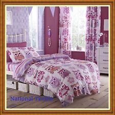 CATHERINE LANSFIELD OWL PINK BEDDING QUILT SET, CURTAINS, CONTEMPORARY