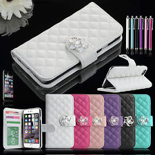 Bling Luxury Leather Flip Wallet Pouch Case Stand Cover For Apple iPhone 6 4.7""