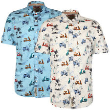 New Mens Tokyo Laundry Gallen Printed Short Sleeved Floral Shirt Size S-XL TL2