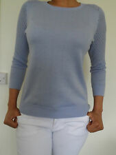 WOMANS LADIES FINE LIGHT KNIT PULLOVER/JUMPER IN LILAC 100% COTTON EX-D PERKINS