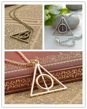 Harry Potter The Deathly Hallows Charm Pendant Chain Necklace - New