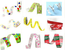 ASSORTED PRINTED RIBBON ROLLS 32 DESIGNS TO CHOOSE FROM