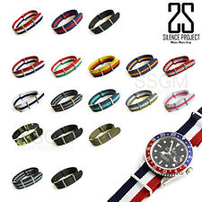 18 20 22mm Fabric Nylon Leather Army Military Replacement Wrist Watch Band Strap