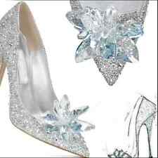 Womens crystal high heeled pointed toe shoes Sexy wedding rhinestone stilettos