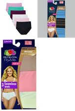 Fruit of the Loom 6-pack Ladies Seamless Briefs Sizes 5-12, NYLON/SPANDEX