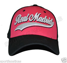 Real Madrid Fc Flex Cap  away Six Panel White Black Hot Pink , Ronaldo 7