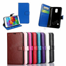 Fashion Book Style Flip Magnetic Stand Wallet PU Leather Cover Case For Samsung