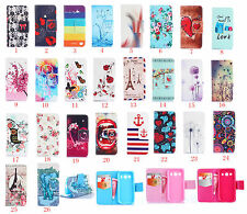 New Cartoon Flower Leather slot wallet flip stand case skin cover FOR Samsung #2