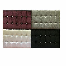 NEW VELVET CRUSHED DIAMANTE HEADBOARD FROM £19.99 AVAILABLE IN 4 COLORS FREE P&P