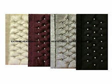NEW VELVET CRUSHED VINTAGE HEADBOARD FROM £17.99 AVAILABLE IN 4 COLOURS FREE P&P