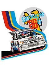 Peugeot 205 T16 RALLY CAR t-shirt. Only 5 left. RETRO RACER, WRC, RALLYING