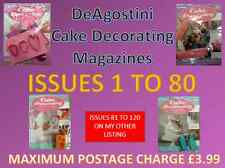 DEAGOSTINI CAKE DECORATING MAGAZINE New with gifts - ISSUES 1 TO 80 & SPECIAL