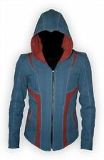 Assassins Creed 3 Cotton/ Faux Leather Hoodie/Coat Jacket Cosplay All Sizes