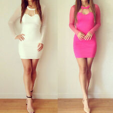 CHEAP Women Long Sleeve Clubwear Bodycon Dress Party Cocktail Evening Mini Dress