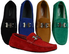 MEN GIOVANNI DRESS LOAFER ITALIAN CASUAL SLIP-ON MEDIUM(D,M)SOLID SUEDE FASHION