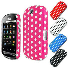 Polka Dots Case Cover FOR LG Optimus ME P350 FREE Screen Protector+ Mini Stylus