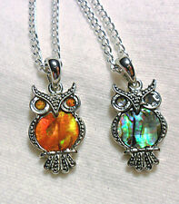 Owl inset with Paua shell,18'' - choice of 2 colours
