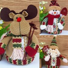 Santa Claus Reindeer Christmas Snowman Statue Decorative Ornaments Gift
