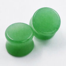 1 Pair Aventurine Jade Natural Organic Stone Ear Flesh Plugs Gauge Stretching