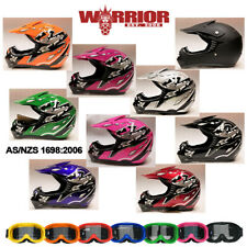 Motocross Helmet, XS S M L XL, Kids Child Youth, Aust. Std, dirt bike, quad, BMX