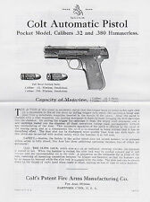 # 4000    COLT 1903/08      PARTS LIST & MANUAL   VERY NICE     A MUST