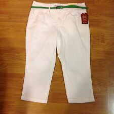 NWT Faded Glory Belted Capri Various Sizes