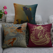 Home Garden Decor sofa Pillow cushion Pillowcase Fish Grass Carp Phina style 1pc
