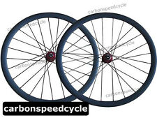 Disc Brake Carbon Cyclocross Bicycle Wheels 38mm Clincher/Tubular D711SB/D712SB