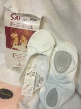 Sansha Canvas ballet dance shoe Demi-Pointe WHITE SILHOUETTE sz 4-18 ADULT