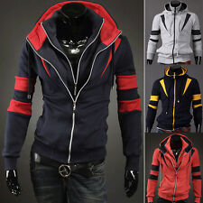 HOT Men's Casual Fashion Slim Fit Sexy Designed Hoodies Sweaters Jackets Coats a